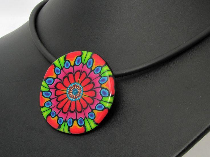 Statement Ketten -  Künstler Halskette, Kunst aus Polymer clay Fimo - ein Designerstück von filigran-Design bei DaWanda
