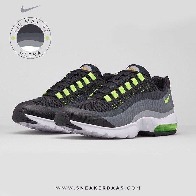 "#nikeairmax #nikeultra #nikeairmaxwmns #nike95 #nikeairmax95 #sneakerbaas #baasbovenbaas  Wmns Nike Air Max 95 Ultra ""Neon Green"" - Now available!"