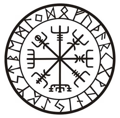 Viking protection runes vegvisir compass talisman by sparrowhawk9