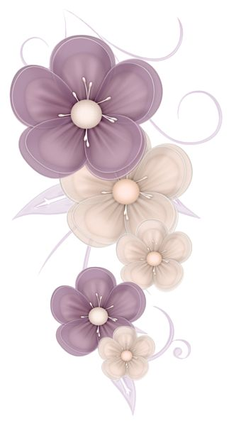 Cute Flowers Decor PNG Clipart Picture