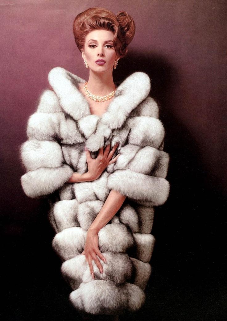 Wilhelmina for Ben Kahn Furs Ad, 1964.