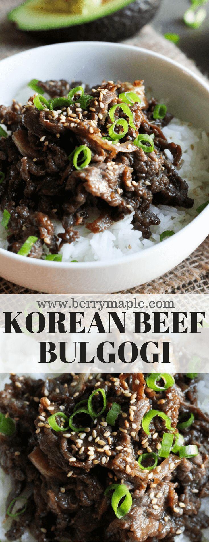 Mein koreanisches Mittagessen 25.10.18Bestes koreanisches Rindfleisch-Bulgogi. Bulgogi mit koreanischem Rindfleisch …