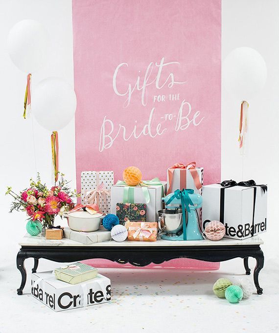 Crate and barrel bridal shower registry