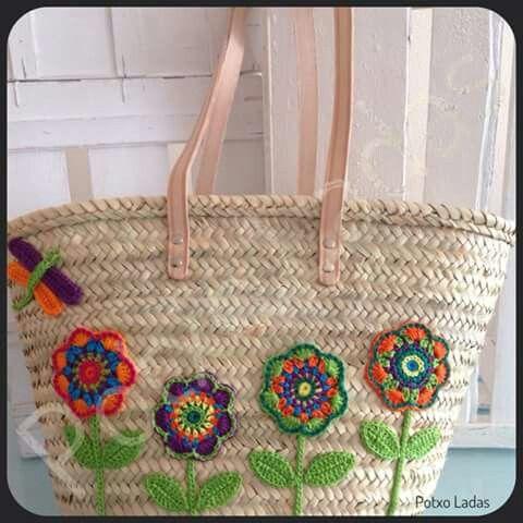 Ibiza tas met bloemen- Ibiza bag