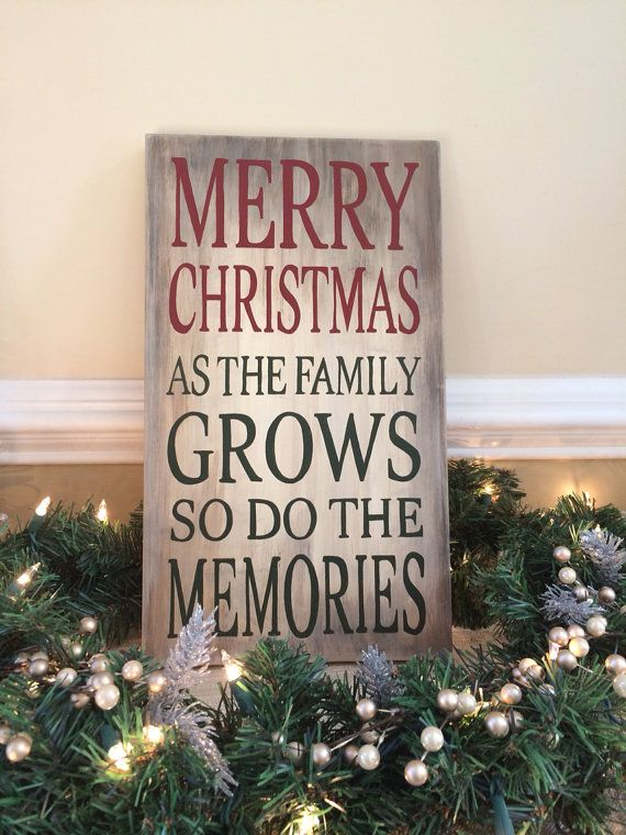 Hand Painted Distressed Sign: Christmas Memories, Country Christmas, Rustic Christmas