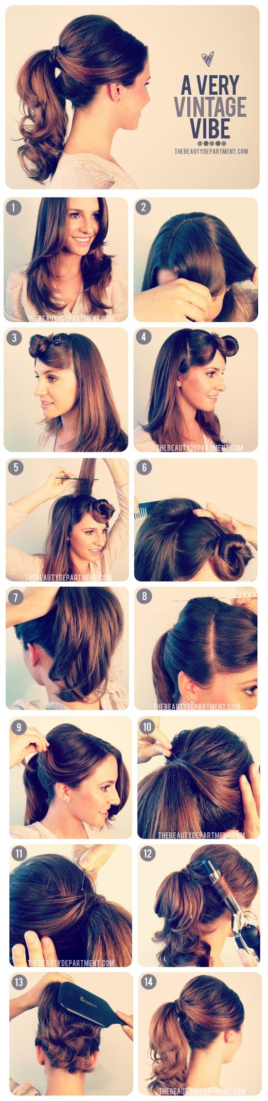 Ha Hair Accessories For Apostolic Long Hair - 1950 s inspired ponytail