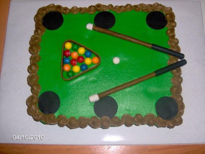 Pool table Cupcake cake