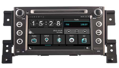 car dvd play GPS navigation for Suzuki Grand Vitara 2005-2011 headunit autoradio stereo with multimedia BT MAP free back camera