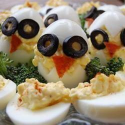 Eierkuikens (gevulde eieren) @ allrecipes.nl