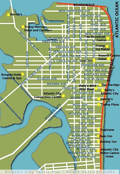 casino atlantic city map