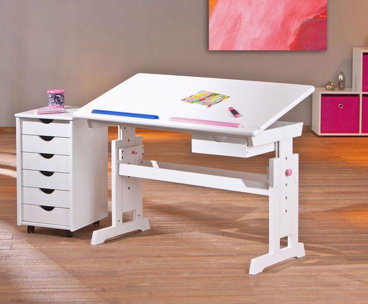 Ber ideen zu kinderschreibtisch wei auf pinterest for Schreibtisch schwenkbare tischplatte