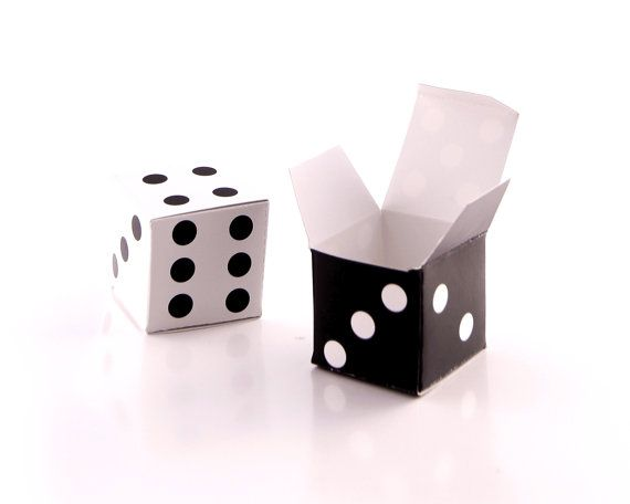 Printable LUCKY DICE Gift Boxes DIY  Mini Favor door EmilyHingston, $3.50