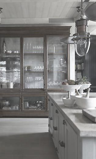 More traditional glass front cabinets - clear glass