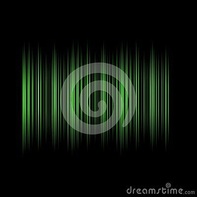 Elegant Green Lines  on Black Background. Beautiful abstract design,pulse line, volume, equalizer, bare code, creative modern technology Illustration. Dark glowing texture, light effect. Business Website element. Digital futuristic image. Techno stripes pattern graphic. Art backgrounds for Web Page banner, poster cover, desktop screen wallpaper.