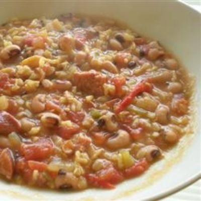 Black-Eyed Pea Gumbo: Brown Rice, Blackey Peas, Recipes, Peas Gumbo, Black Eyed Pea, Black Ey Peas, Ground Turkey, New Years, Black Eye Peas