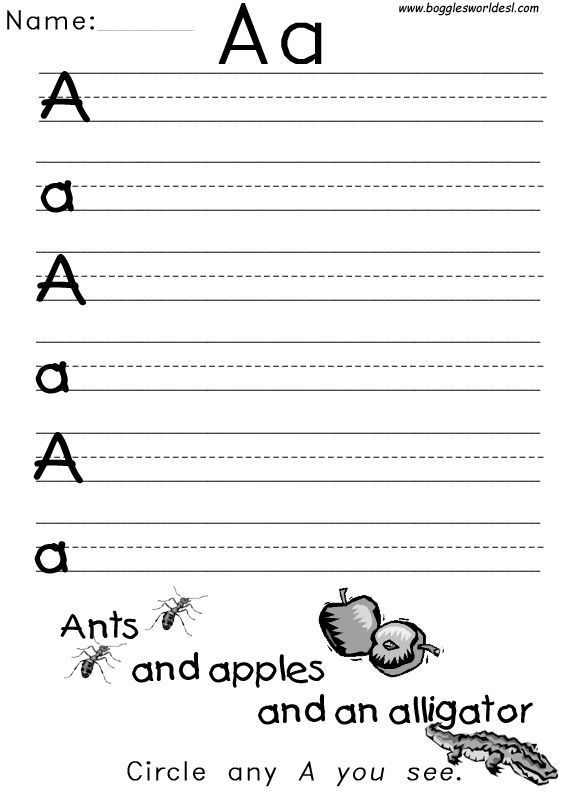 There Are Tons Of Alphabet Worksheets On The Net I