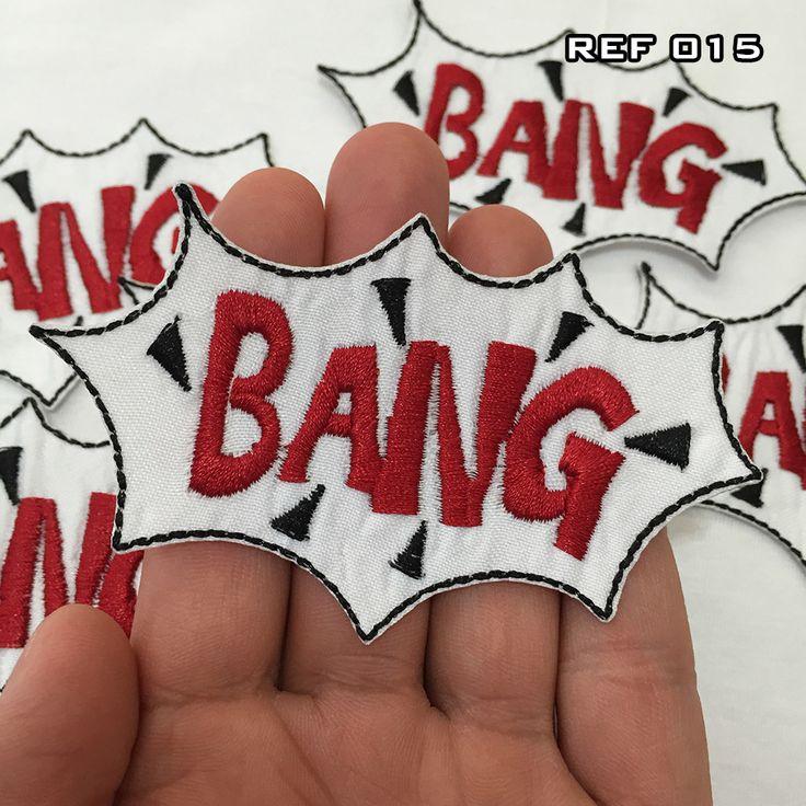 Aplique (patch) Bordado Termocolante Bang