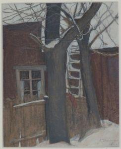 """""""Courtyard"""" - Ellen Thesleff (Finnish, 1869-1954)"""