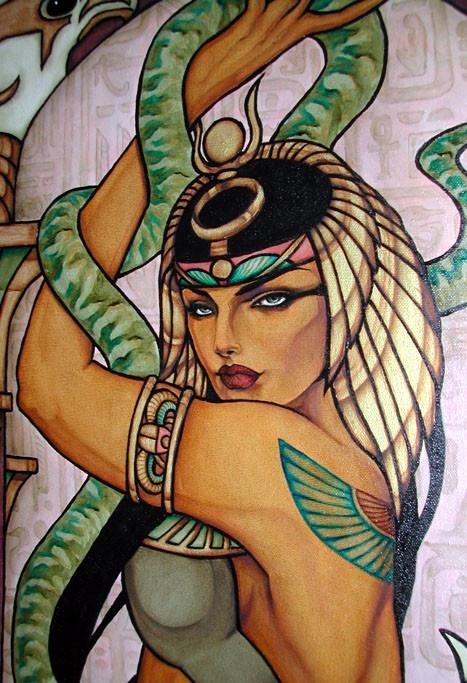Cleopatra original oil painting