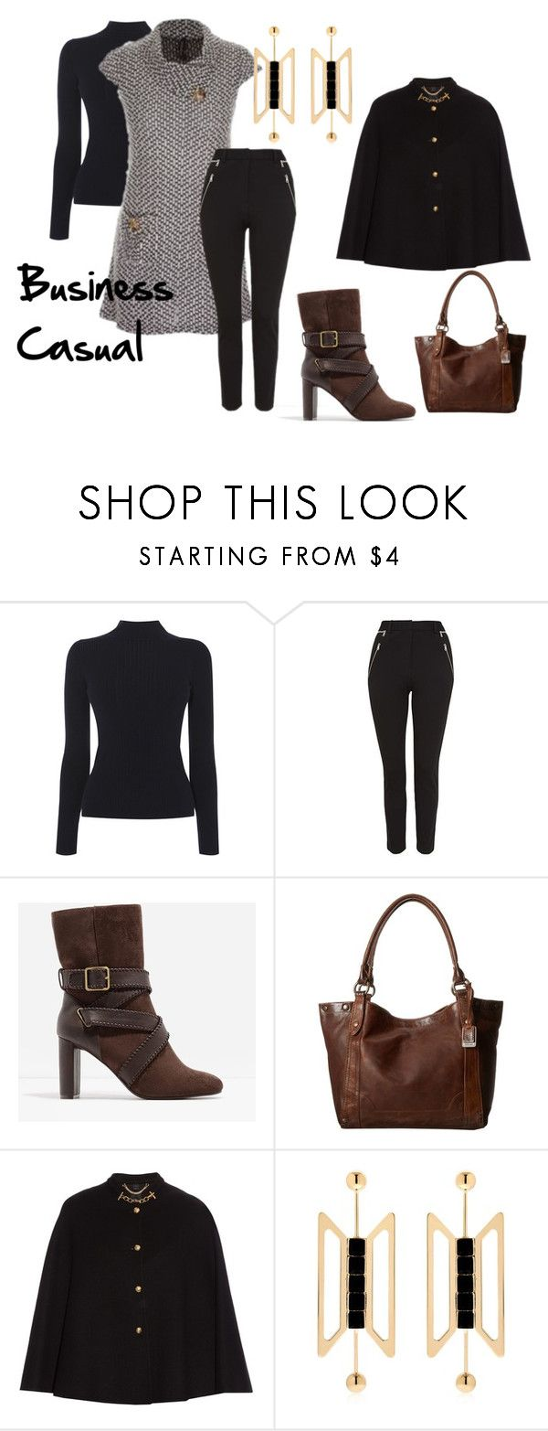 """""""Business Casual"""" by cheryl-stainsby on Polyvore featuring CHARLES & KEITH, Frye, Burberry and Natama Design"""