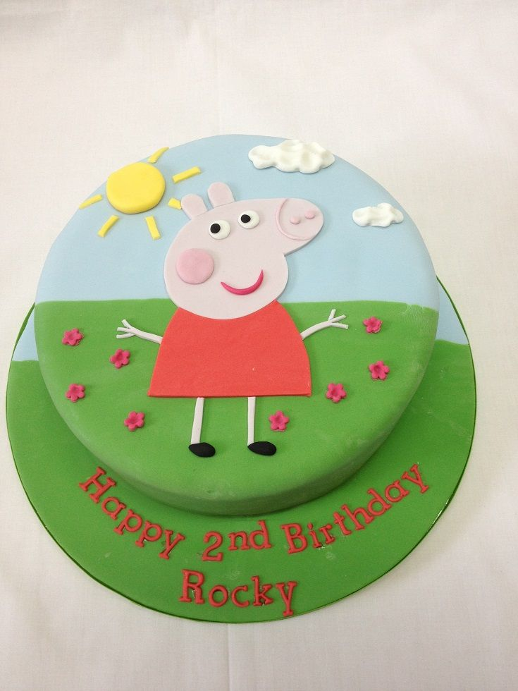Round Peppa Pig Cake @Barbara Acosta Van Horn