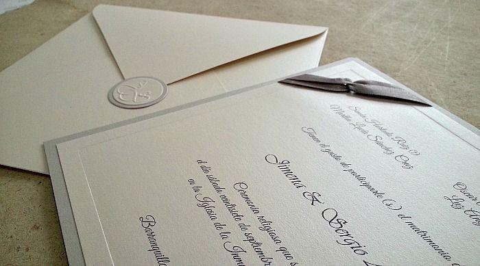 Matrimonio - Línea Clásica - Invitaciones Casa Papelera El Cedro