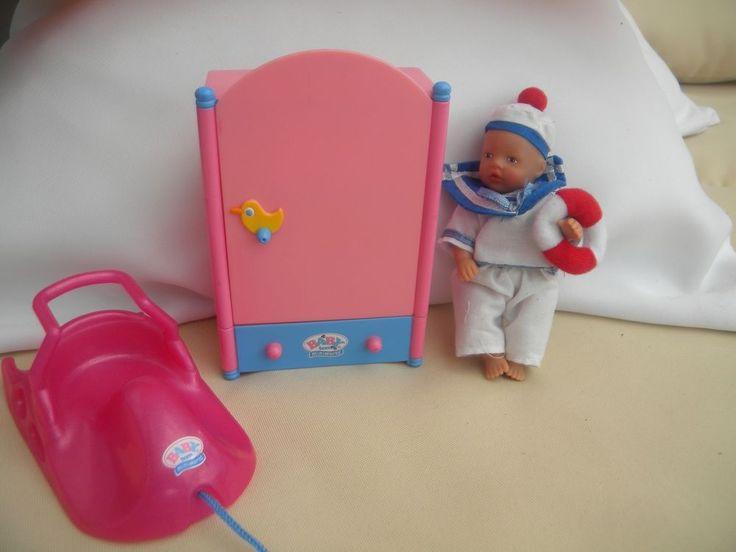 BABY born® miniworld Püppchen BABY born Puppe mini mit Schrank Schlitten Top