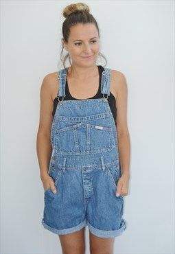 90s  RARE Guess by Marciano Festival Denim Dungarees