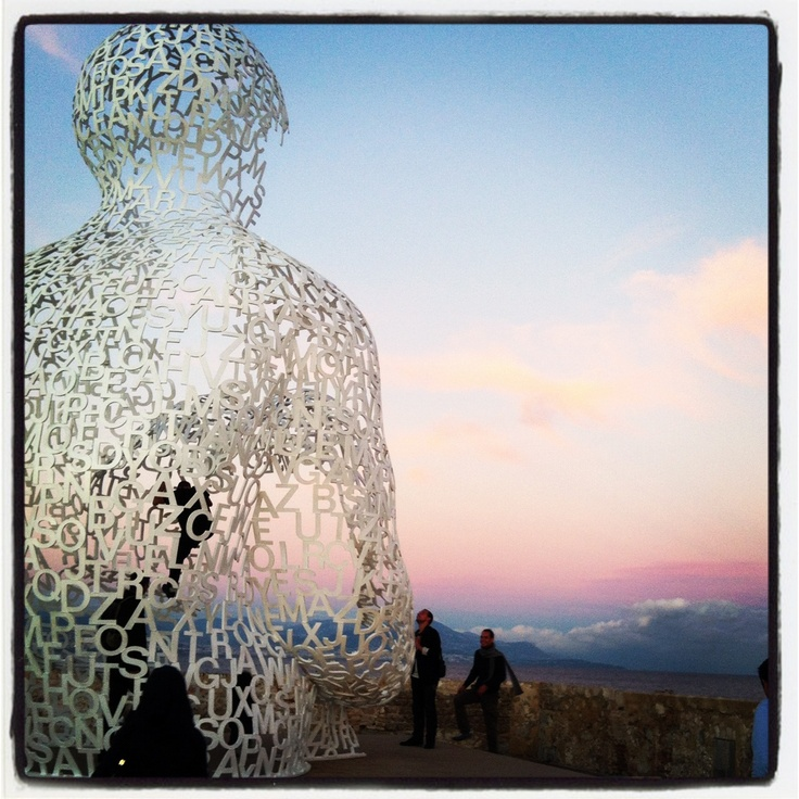 Letters in front of the sky - Antibes
