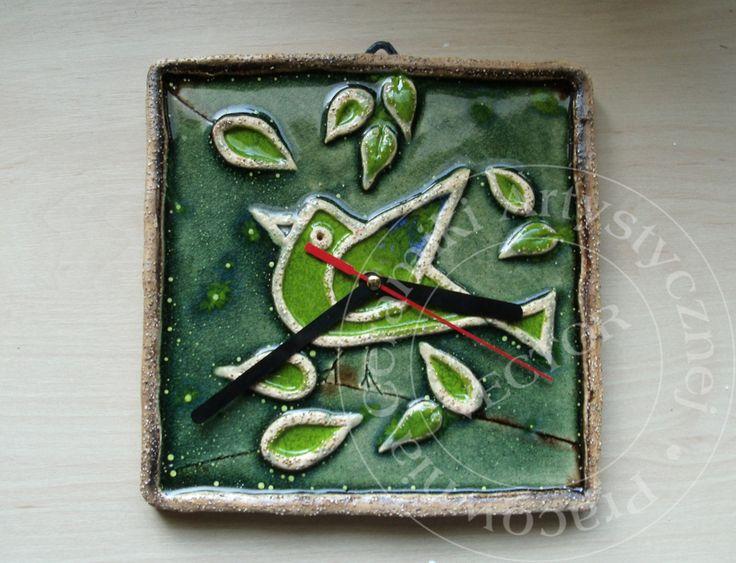 Zegar ceramiczny, ręcznie malowany/Ceramic clock, hand painted