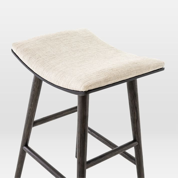 Oak Wood Upholstered Saddle Bar Counter Stools In 2020 Counter Stools Upholstered Stool Oak Wood