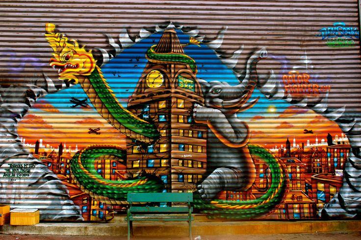 Street art, Bangkok, Thailand.