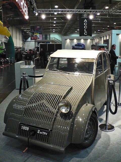 the 1939 Citroen TPV is the prototype for the 1948 2CV..It was hidden from the Nazis during WWII and brought out of hiding after D Day and development was completed in time for the 1948 launch