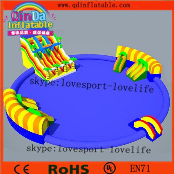 Аттракционы гигантские надувные водные горки экспортер / надувной бассейн слайд купить на AliExpress #inflatable #trampoline #game #kids #jump #flight #air #sports #extreme #fun #funny #business #buy #discount #free #shipping #beautiful #big #weekend