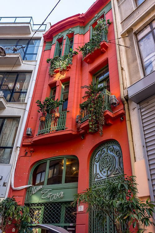Balconies, Athens, Greece