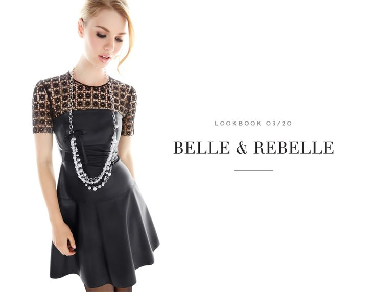 BELLE & REBELLE  //  IT'S GIRLS NIGHT #leather #tough #luxe #dress #lace #necklace #mode #chic #cuir #rebel #audace #rockandroll #glam #fashion #femme #women #lookbook #fw16