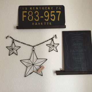 ワイヤークラフト 立体星 オーナメント ハンドメイドのインテリア/家具(インテリア雑貨)の商品写真