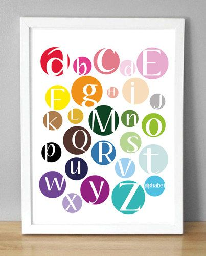 Printable Wall Art  Color Dot Alphabet   8.5x10 by menalove, $10.00 - cute by a little art station