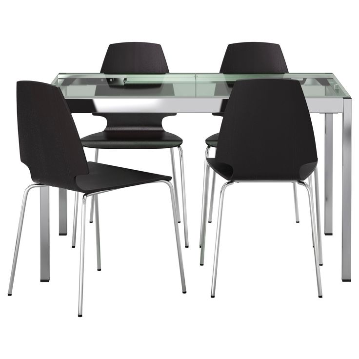 GLIVARP / VILMAR Table And 4 Chairs