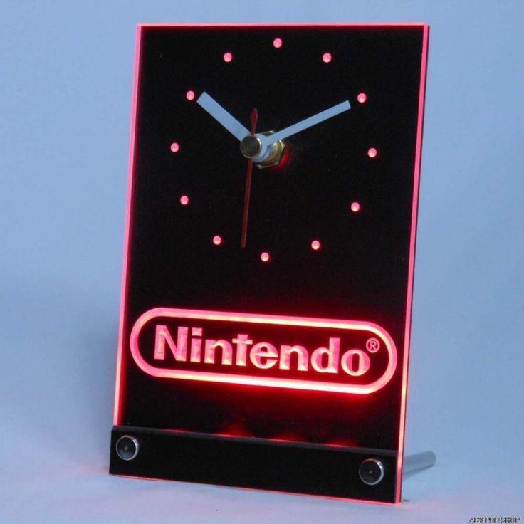 24 best things is neon sign led wall clock images on pinterest nintendo desk led clock night light clock game room home decor gamer gift aloadofball Images