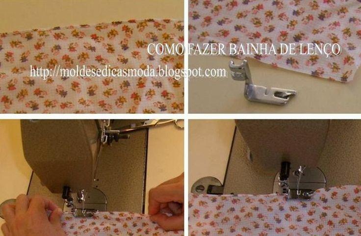 COMO FAZER BAINHA DE LENÇO A bainha de lenço é um acabamento de extrema importância em costura. Este tipo de costura exige muito treina para o poder fazer