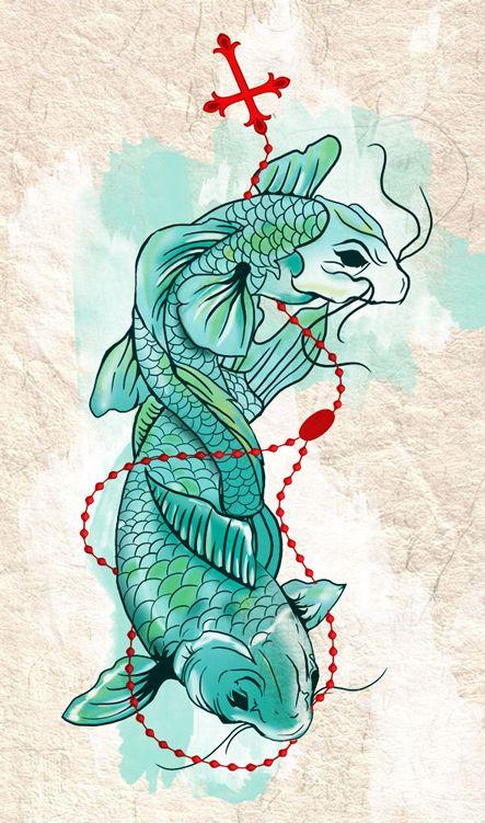 25 sch ne koi karpfen tattoo ideen auf pinterest koi for Japanische kampffische