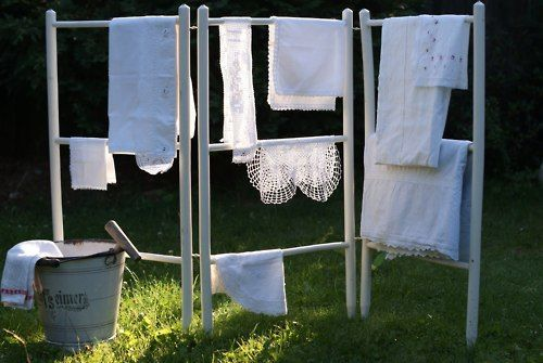 drying on the rack outside, another reason I miss summer, I like to hang dry clothes outside