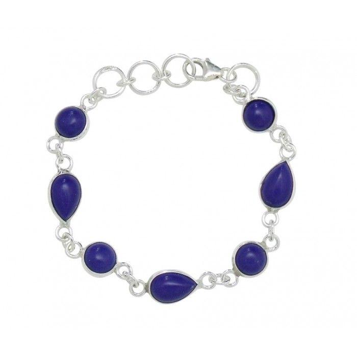 Baby Bracelets:  Exquisite Lapis/Sterling Silver Bracelet