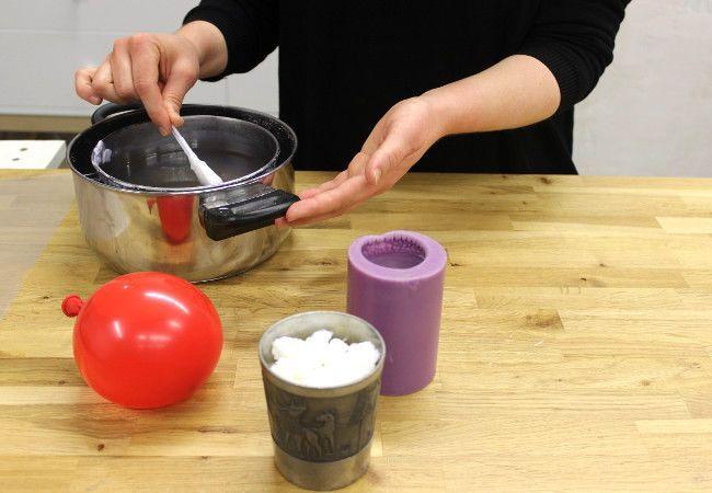 Last Minute Weihanchtsgeschenk Anleitung: DIY Wachsschale Kerzenhalter