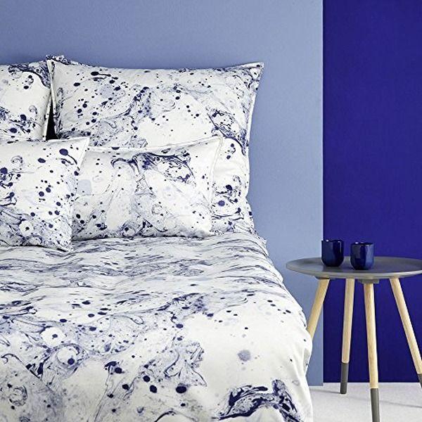 Covered Mako Satin Bettwasche Ink Indigo 155x200 Cm 80x80 Cm Werbung Wohntrends Trends Wohnen Bettwasc Bettwasche Blau Bettwasche Mako Satin Bettwasche