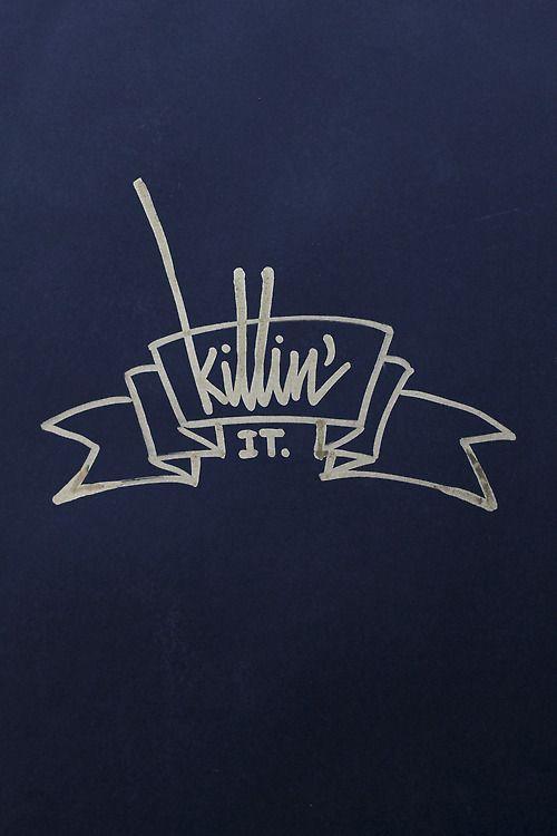 """Killin' it.""Gold Sakura marker 2.0mm  on black paperBy:it's a living©"