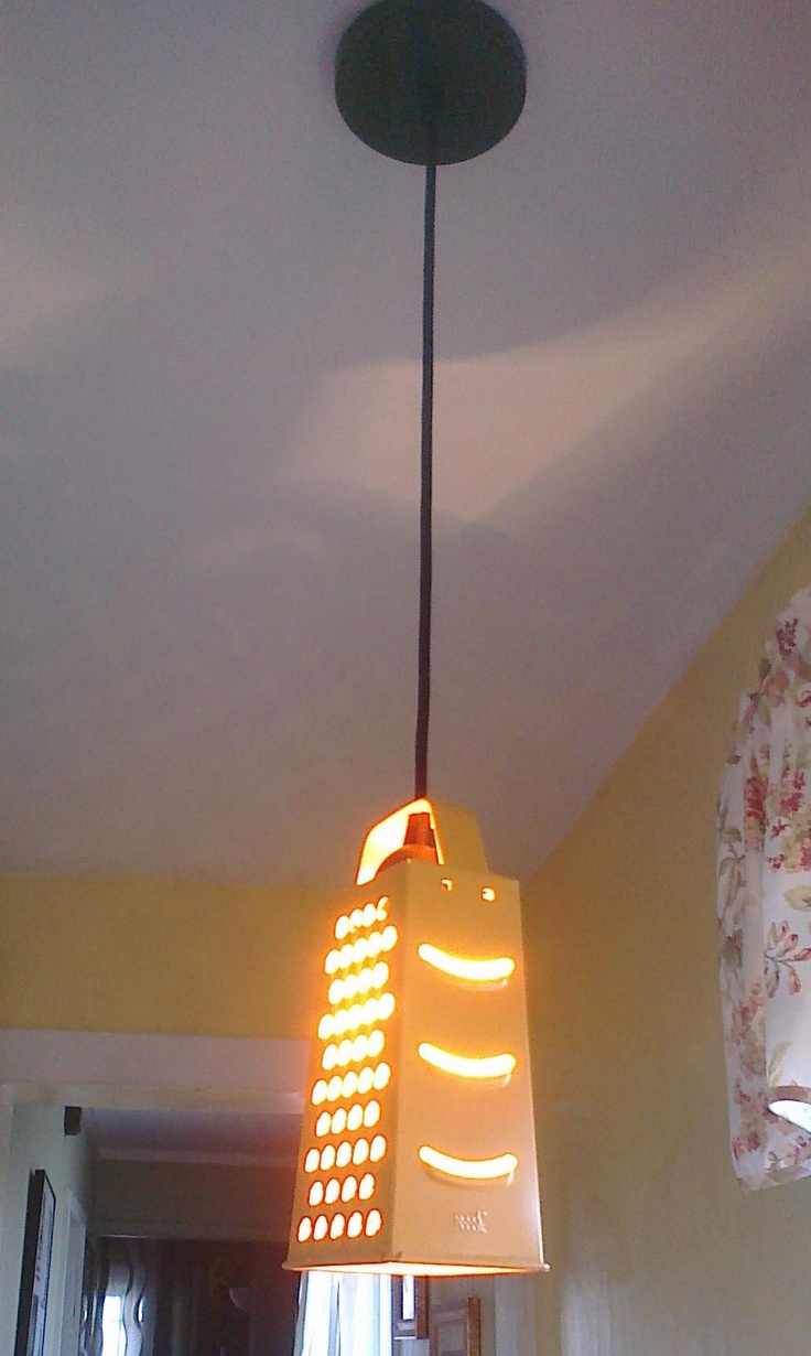 best i love graters images on pinterest  cheese grater  - cheese grater pendant light