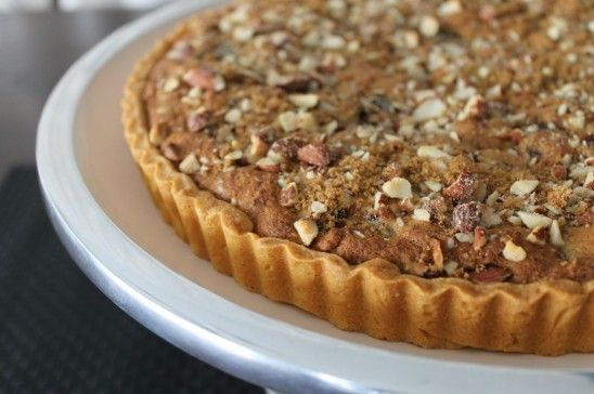 Toffee and Almond Date Tart