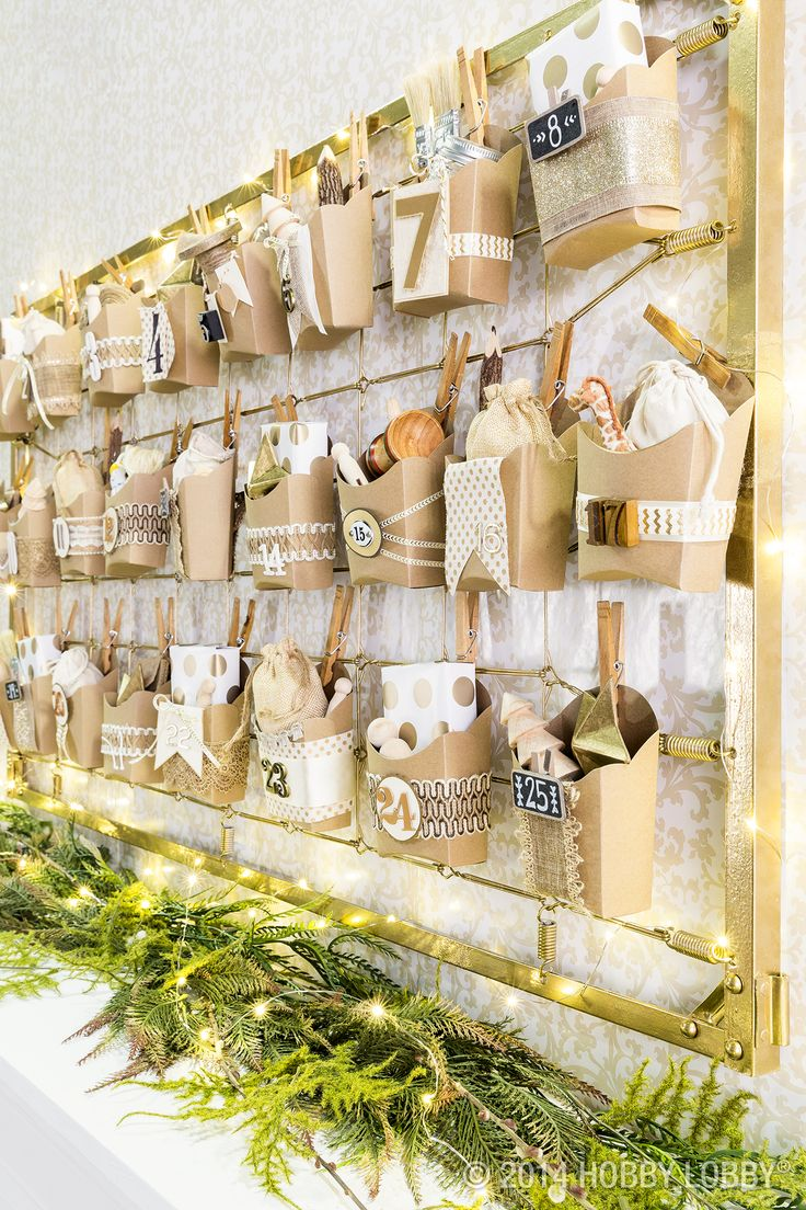 DIY your own advent calendar with these tiny fry boxes!